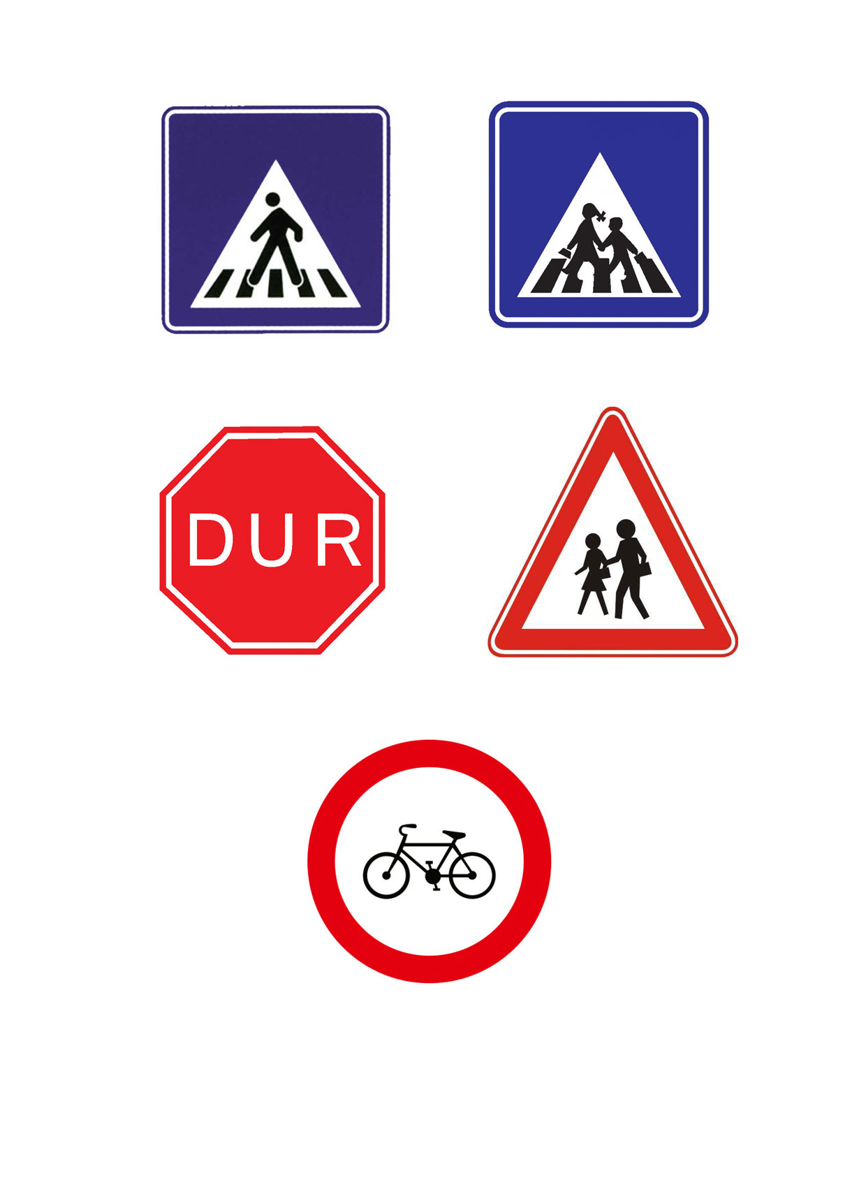 Trafik Isaretleri Adeland Renkler Dunyasi Projedenizi